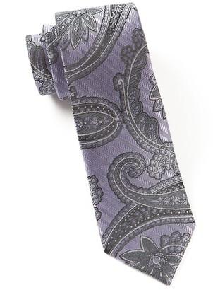 Tie Bar Utopia Paisley Lilac Tie