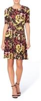 Catherine Malandrino Women's Jonni Pleat Jersey Fit & Flare Dress