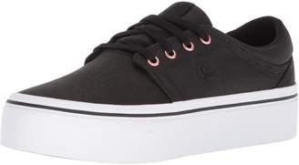 DC Women's Trase Platform TX SE Skate Shoe Black/Gold 11 B US