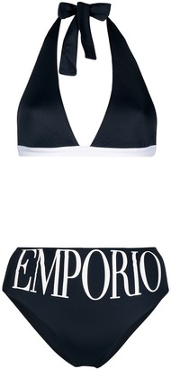 Emporio Armani Logo Two-Piece Bikini