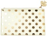 Kate Spade Pencil Pouch - Gold Dots