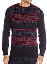 Nautica Men's 7GG Fair Isle Crewneck Sweater