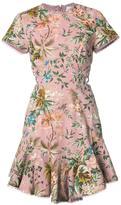 Zimmermann cap sleeve floral dress - women - Cotton/Linen/Flax - 0
