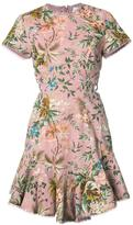 Zimmermann cap sleeve floral dress