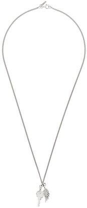 Emanuele Bicocchi Wing Pendant Chain Necklace