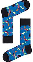 Happy Socks Space Socks, One Size, Blue