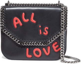 Stella McCartney Falabella Box Laser-cut Faux Leather Shoulder Bag