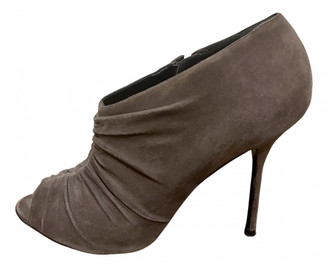 Pierre Hardy Brown Suede Ankle boots