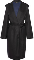 The Row Marney Hooded Felted Wool-blend Coat - Black