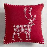 Pier 1 Imports Reindeer Mini Red Pillow
