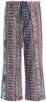 LE SIRENUSE, POSITANO Viola Arlechino-print wide-leg cotton trousers