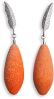 Diana Arno Winged Passion Silver Feather Earrings With Mini-Earberries