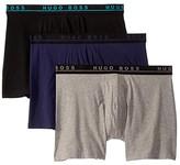 HUGO BOSS 3-Pack Stretch Cotton Boxer Brief (Black/Grey/Purple) Men's Underwear
