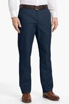 Bonobos Blue Woven Regular Fit Flat Front Cotton Trouser - 30-36 Inseam