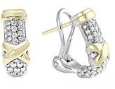 Lagos 'Diamond Lux' Diamond Half Hoop Earrings