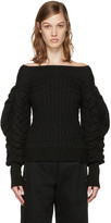 Lemaire Black Cable Knit Sweater