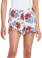 Free People Floral Flutter Shorts