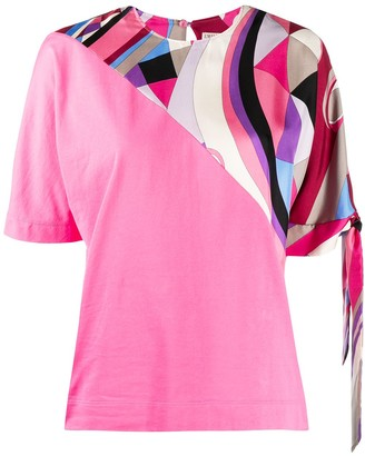 Emilio Pucci tie-sleeve abstract print T-shirt