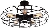 Creative Dream Celling Fan Light Chandelier LOFT Industry Pendant Lamp Wrought Lamp Shades 5 Heads Vintage Industrial Fan Metal Lampshade