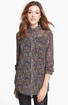 Vince Camuto Two by Floral Print Tunic Shirt