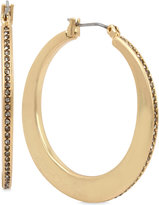 Kenneth Cole New York Gold-Tone Pavé Knife Edge Hoop Earrings