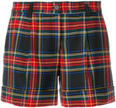 P.A.R.O.S.H. plaid tailored shorts