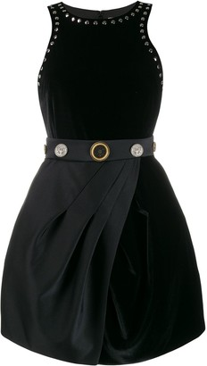 Fausto Puglisi embossed button studded dress