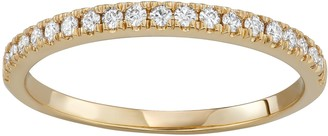 Charles & Colvard 14k Gold 1/4 Carat T.W. Lab-Created Moissanite Wedding Band
