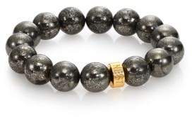 Nest Pyrite Beaded Stretch Bracelet