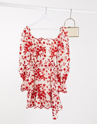 Talulah endless love mini dress in red floral