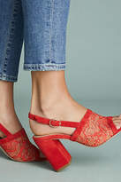 Anthropologie Slingback Heeled Mules