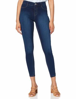 Dorothy Perkins Women's Indigo Regular Length Frankie Jeans 8
