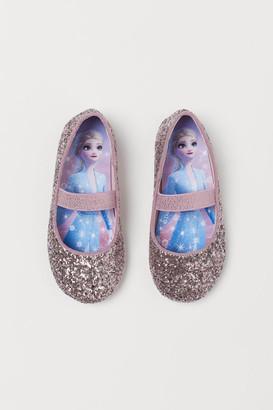 H&M Glittery ballet pumps