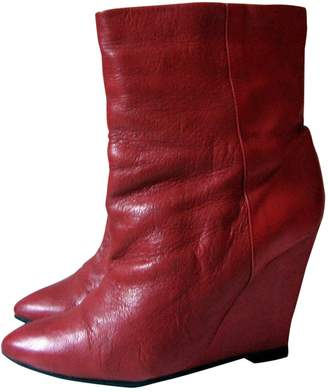 IRO \N Red Leather Ankle boots
