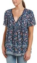 Glam Summer Floral Peasant Top.