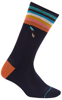 Paul Smith Feather Socks, One Size, Navy/multi