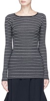Vince Stripe rib jersey long sleeve T-shirt