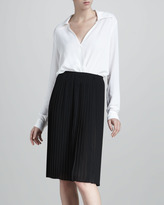 Michael Kors Pleated Georgette Skirt