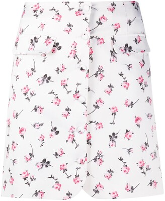 BROGNANO floral-print A-line skirt