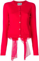 Moschino voile bow cardigan