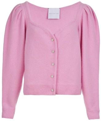 MARKARIAN Pink Sweetheart Neckline Cardigan