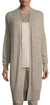 Ralph Lauren Cable-Knit Cashmere Long Cardigan, Taupe