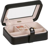 Mele Rio Faux Leather Glass Top Jewelry Box