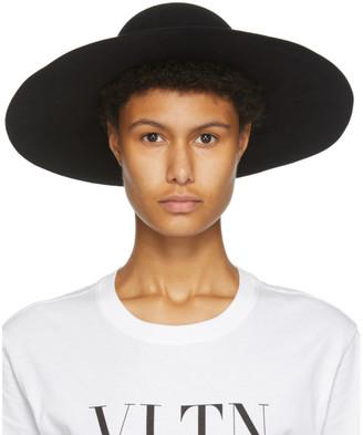 Valentino Black Garavani VLogo Wide-Brim Hat