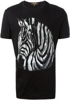 Roberto Cavalli embellished zebra t-shirt
