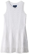 Polo Ralph Lauren Combed Cotton Pointelle Sweater Dress Girl's Dress