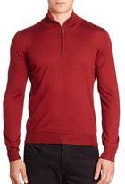 Isaia Cashmere & Silk Half-Zip Sweater