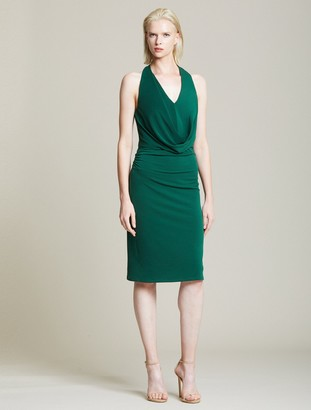 Halston Jersey Draped Cowl Dress