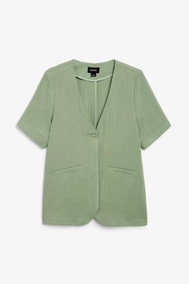 Monki Short sleeve blazer