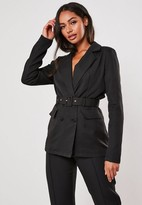Missguided Petite Black Co Ord Belted Blazer